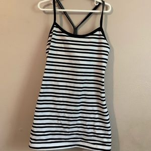 Lululemon black & white stripped tank top